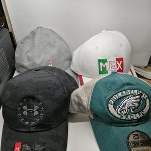 New 4 Caps Under armour(1) Nautica (3) Value $140